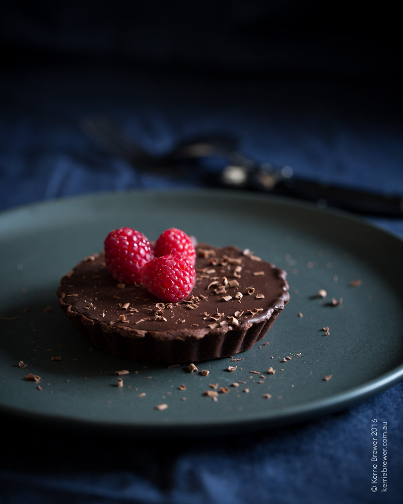Dark Chocolate & Caramel Tarts_Kerrie Brewer_Canberra Food Photographer